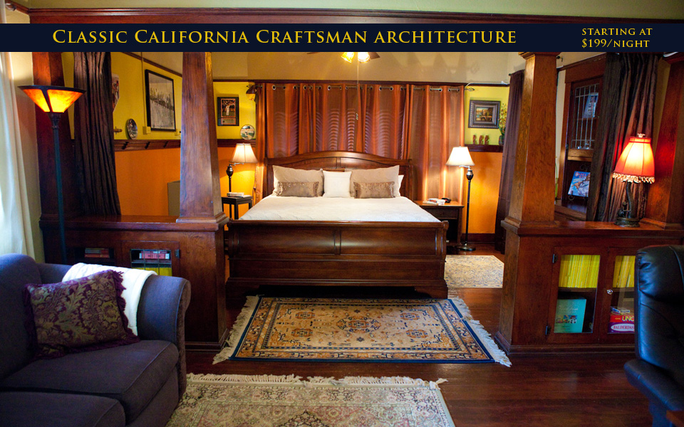 Classic California Craftsman architecture.